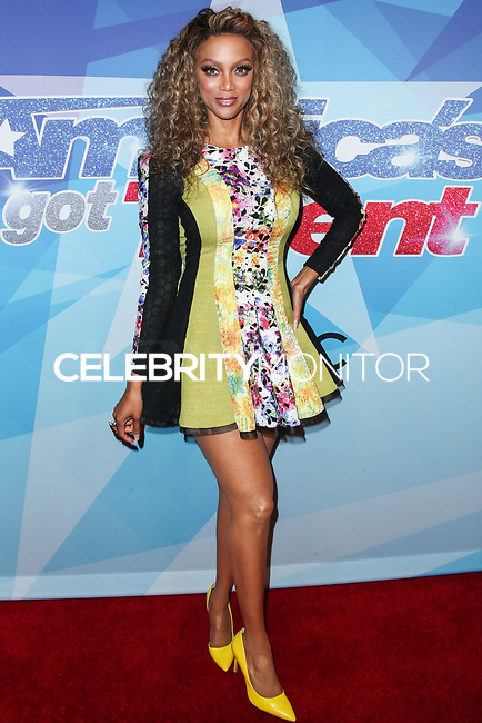 HOLLYWOOD, LOS ANGELES, CA, USA - AUGUST 15: Tyra Banks arrives at NBC's 'America's Got Talent' Season 12 Live Show held at Dolby Theatre on August 15, 2017 in Hollywood, Los Angeles, California, United States. (Photo by Xavier Collin/Celebrity Monitor)