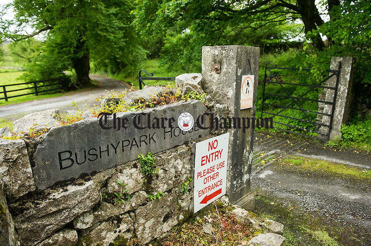 General view of Bushy park signage. Photograph by John Kelly.