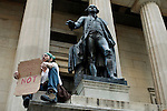 Occupy wall street members at the Federal Hall