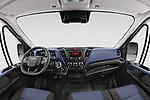 Stock photo of straight dashboard view of 2021 Iveco Daily - 4 Door Cargo Van Dashboard