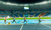 2nd May 2021; Silesian Stadium, Chorzow, Poland; World Athletics Relays 2021. Day 2; Ramsey Angela slow shutter shot on route to winning the mens 4 x 400 for the Netherlands
