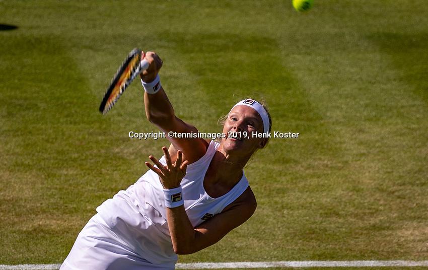 London, England, 4 July, 2019, Tennis,  Wimbledon, Kiki Bertens (NED)<br /> Photo: Henk Koster/tennisimages.com