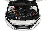 Car Stock 2021 Honda Accord-Hybrid EX-L 4 Door Sedan Engine  high angle detail view