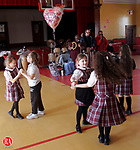 NAUGATUCK, CT14 February 2006-021406TK10   The children of St. Francis of Assissi School enjoyed a lunchtime valentine day party of fun and music provided by The Alleliuia Players. The Alleliuia Players band is composed of members that are intellectually and pysicially disabled. Tom Kabelka / Republican-American (St. Francis of Assissi School, The Alleliuia Players)CQ