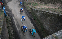 The Quick Step Floors train going underground<br /> <br /> 61th E3 Harelbeke 2018 (1.UWT)<br /> 1day race: Harelbeke › Harelbeke - BEL (206km)