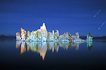 Tufa pinnacles as seen at night at Mono Lake, near Lee Vining, California