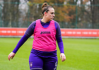 Britt Vanhamel (4 Anderlecht) during the warm up before a female soccer game between Standard Femina de Liege and RSC Anderlecht on the 9th matchday of the 2020 - 2021 season of Belgian Scooore Womens Super League , saturday 12 th of December 2020  in Angleur , Belgium . PHOTO SPORTPIX.BE | SPP | SEVIL OKTEM