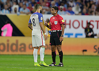 Houston, TX - June 21, 2016: The U.S. Men's National team go down 0-3 to Argentina in Semifinal play at the 2016 Copa America Centenario at NRG Stadium.