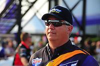 Apr. 27, 2012; Baytown, TX, USA: NHRA pro stock driver Rodger Brogdon during qualifying for the Spring Nationals at Royal Purple Raceway. Mandatory Credit: Mark J. Rebilas-