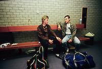 1985, ABNWTT, Nijstrom en Wilander(r) in de kleedkamer