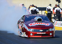 Oct. 5, 2012; Mohnton, PA, USA: NHRA pro stock driver Greg Anderson during qualifying for the Auto Plus Nationals at Maple Grove Raceway. Mandatory Credit: Mark J. Rebilas-