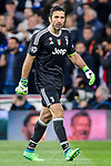 Goalkeeper Gianluigi Buffon of Juventus leaves the pitch after been sent off during the UEFA Champions League 2017-18 quarter-finals (2nd leg) match between Real Madrid and Juventus at Estadio Santiago Bernabeu on 11 April 2018 in Madrid, Spain. Photo by Diego Souto / Power Sport Images