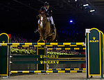"""Billy Twomey, on Tinka's Serenade, going for victory, passing the terrible """"double Rolex"""" after an incredible second round."""