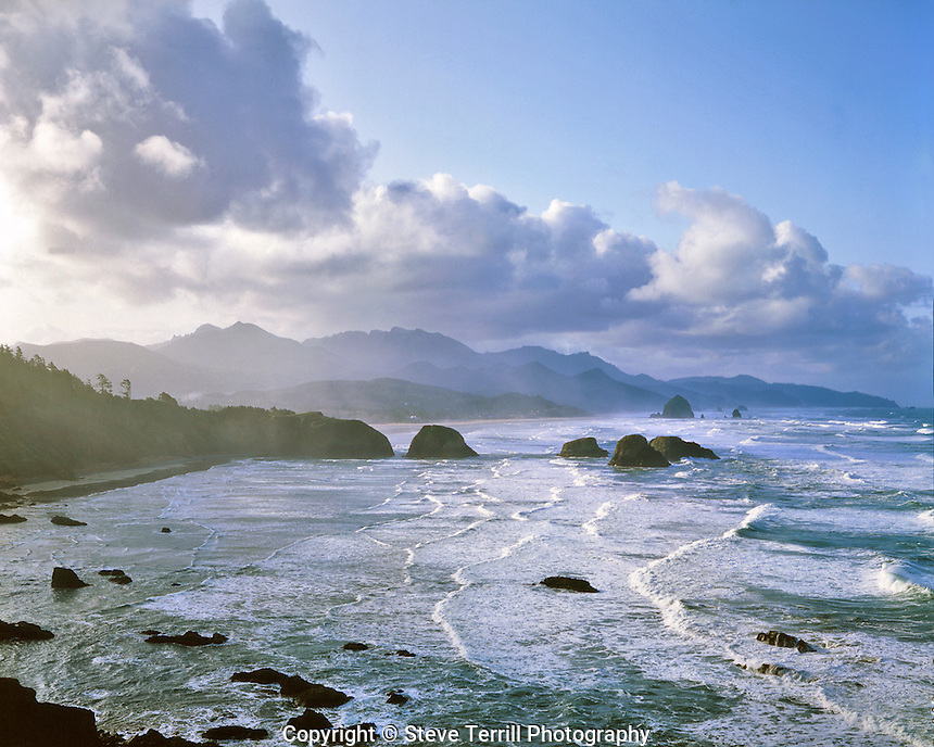 Cannon Beach viewed from Ecola State Park, Oregon