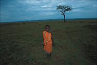 Wombain, a four-year-old Maasai girl. Masai Mara, Kenya.