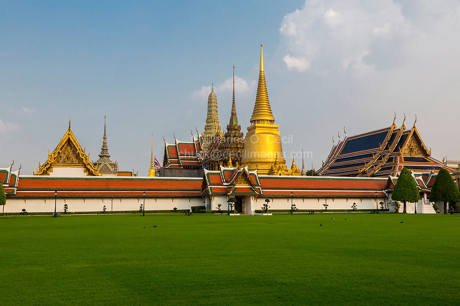 Bangkok, Thailand.  Grand Palace Compound.