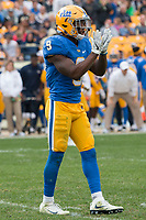 Pitt defensive back Jordan Whitehead. The Pitt Panthers defeated the Georgia Tech Yellow Jackets 37-34 at Heinz Field in Pittsburgh, Pennsylvania on October 08, 2016.