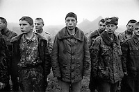 Young men conscripted to the Russian army for the war in Chechnya...