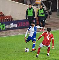 17th February 2021, Oakwell Stadium, Barnsley, Yorkshire, England; English Football League Championship Football, Barnsley FC versus Blackburn Rovers; Elliott Bennett of Blackburn Rovers on the ball