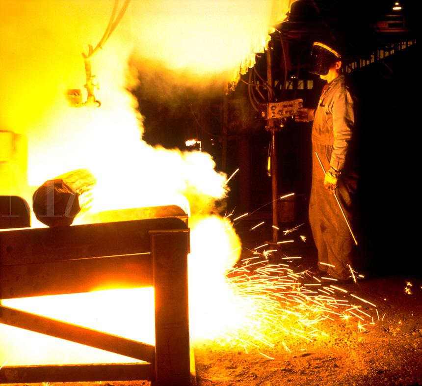 Titanium billet cutter. Albany Oregon United States titanium plant.
