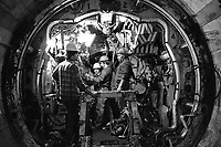 - scavo del tunnel della Metropolitana Milanese (1983)....- digging of the tunnel of Milan Subway (1983)