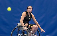 Amstelveen, Netherlands, 8  December, 2020, National Tennis Center, NTC, NKR, National  Indoor Wheelchair Tennis Championships, Women's single: <br /> Wendi Schutte (NED)<br /> Photo: Henk Koster/tennisimages.com