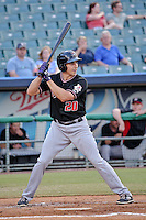 Albuquerque Isotopes catcher Matt McBride (20) at bat against the New Orleans Zephyrs in a game at Zephyr Field on May 28, 2015 in Metairie, Louisiana. (Derick E. Hingle/Four Seam Images)