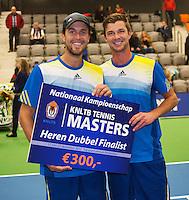 21-12-13,Netherlands, Rotterdam,  Topsportcentrum, Tennis Masters, Mens doubles final, runners up ,Antal van der Duim and Boy Westerhof(L)(NED)<br /> Photo: Henk Koster