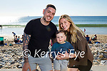 Enjoying a stroll on Banna beach on Sunday, l to r: Shan and Kai McCarthy and Shannon O'Rourke.