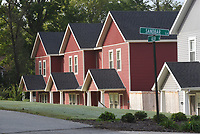 New homes are seen Wednesday Oct. 6 2021 near downtown Cave Springs.<br />(NWA Democrat-Gazette/Flip Putthoff)