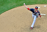 3 September 2012: Washington Nationals pitcher Drew Storen on the mound against the Chicago Cubs at Nationals Park in Washington, DC. The Nationals edged out the visiting Cubs 2-1, in the first game of heir 4-game series. Mandatory Credit: Ed Wolfstein Photo