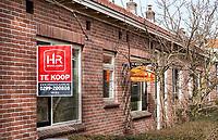 Nederland  Amsterdam - 2021.  Amsterdam Noord. Disteldorp. Huizen te koop.  Foto Berlinda van Dam / HH / ANP.
