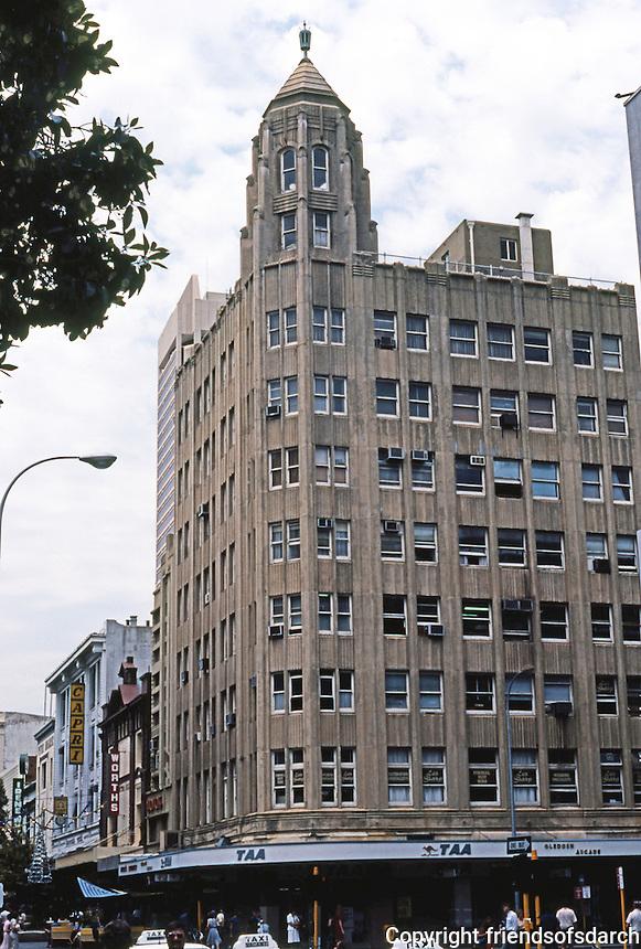Perth: Art Deco skyscraper, circa 1937. No. 77 Hay St. Mall. No architect listed. Photo '82.
