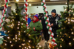 WATERBURY, CT. 21 December 2019-122119BS290 - More than 400 people pack the basement in a festive atmosphere for a Christmas Party for the less fortunate and homeless at the Basilica of Immaculate Conception in Waterbury on Saturday. Bill Shettle Republican-American