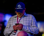 LOUISVILLE, KY - OCTOBER 29: Chad Summers, trainer of Mind Your Biscuits, at the Rood & Riddle 2018 Breeders' Cup Post Position Draw at EQCON on October 29, 2018 in Louisville, Kentucky. (Photo by Scott Serio/Eclipse Sportswire/Breeders Cup)