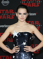 LOS ANGELES, CA - DECEMBER 9: Daisy Ridley, at Premiere Of Disney Pictures And Lucasfilm's 'Star Wars: The Last Jedi' at Shrine Auditorium in Los Angeles, California on December 9, 2017. Credit: Faye Sadou/MediaPunch /NortePhoto.com NORTEPHOTOMEXICO