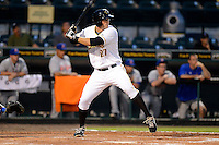 Bradenton Marauders third baseman Chris Lashmet #27 during a game against the St. Lucie Mets on April 12, 2013 at McKechnie Field in Bradenton, Florida.  St. Lucie defeated Bradenton 6-5 in 12 innings.  (Mike Janes/Four Seam Images)