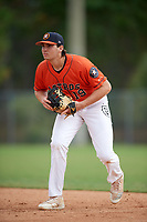Triston Casas (19) while playing for Houston Astros Scout Team/Elite Squad based out of Pembroke Pines, Florida during the WWBA World Championship at the Roger Dean Complex on October 22, 2017 in Jupiter, Florida.  Triston Casas is a third baseman / first baseman from Pembroke Pines, Florida who attends American Heritage High School.  (Mike Janes/Four Seam Images)