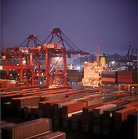 Hong Kong container terminal.