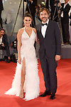 NON EXCLUSIVE PICTURE: MATRIXPICTURES.CO.UK<br /> PLEASE CREDIT ALL USES<br /> <br /> WORLD RIGHTS<br />  <br /> Spanish actress Penelope Cruz and Spanish actor Javier Bardem attend the premiere for Loving Pablo during the 74th Venice Film Festival in Venice, Italy.<br /> <br /> SEPTEMBER 6th 2017<br /> <br /> REF: PTY 171954