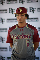 Jordan Matthews (6) of Lee High School in Midland, Texas during the Baseball Factory All-America Pre-Season Tournament, powered by Under Armour, on January 12, 2018 at Sloan Park Complex in Mesa, Arizona.  (Zachary Lucy/Four Seam Images)