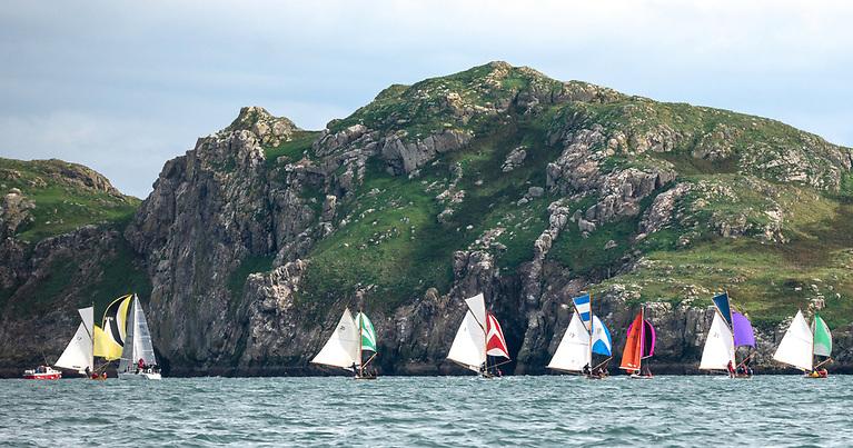 Connemara if you wish……the Howth Seventeens run down on the mark at Ireland's Eye. Photo: Annraoi Blaney