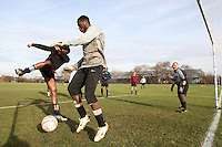 Lapton FC players warm up with before a Hackney & Leyton League Sunday Football match at East Marsh, Hackney Marshes - 31/01/10 - MANDATORY CREDIT: Gavin Ellis/TGSPHOTO - Self billing applies where appropriate - Tel: 0845 094 6026