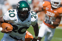 02 September 2006: University of North Texas back Jamario Thomas runs with the ball during the game against the University of Texas Longhorns at Darrell K Royal Memorial Stadium in Austin, TX.