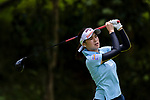 Tiranan Yoopan of Thailand tees off during the first round of the EFG Hong Kong Ladies Open at the Hong Kong Golf Club Old Course on May 11, 2018 in Hong Kong. Photo by Marcio Rodrigo Machado / Power Sport Images