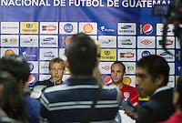 United States Men's National Coach Jurgen Klinsmann and Landon Donovan address the media before the team's practice at Estadio Mateo Flores in Guatemala City, Guatemala on Mon. June 11, 2012.
