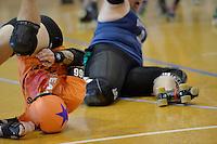 Roller Derby Whenua Fatales Sur5al Tournament at Levin Events Centre,  New Zealand on Saturday 9 November 2013.<br /> Photo by Masanori Udagawa.<br /> www.photowellington.photoshelter.com