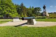 Civil War statue at Atkinson Common in Newburyport, Massachusetts USA. Designed in 1893-1894, this small 21-acre park is located on High Street.