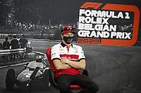 27th August 2020, Spa Francorhamps, Belgium, F1  Grand Prix of Belgium Motorsports: FIA Formula One World Championship 2020, Grand Prix of Belgium, 7 Kimi Raikkonen FIN, Alfa Romeo Racing ORLEN