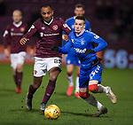 29.02.2020 Hearts v Rangers: Loic Damour and Ryan Kent